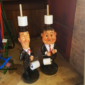 Laurel And Hardy Toilet Roll Holders